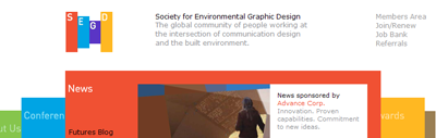 SEGD home page screenshot
